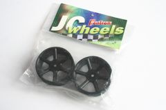 Fastrax JC Wheels Front Spoked Black Wheels For Schumacher CAT 2000 - JC4F-B