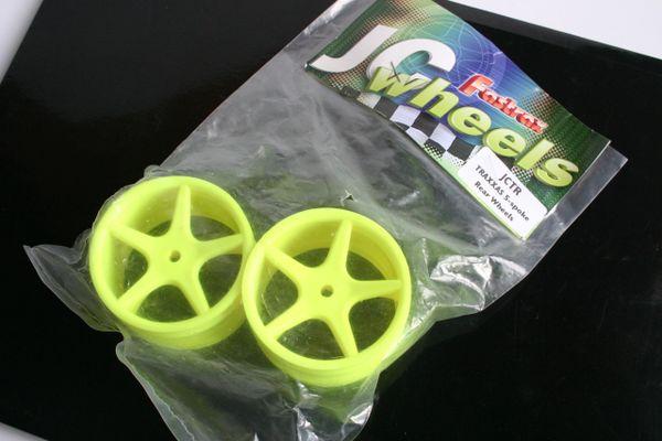 Fastrax JC Wheels Pin Fitment Rear Yellow Wheels For Traxxas - JCTR-Y