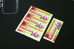 Schumacher Cougar Club 10 Decals / Stickers