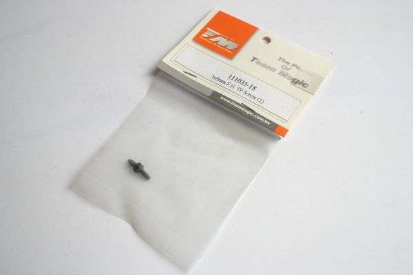 Team Magic 3x8mm F.H TP Screws (2) - 111135-18