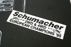 Schumacher European Championships 95 2wd & 4wd Decal / Sticker - C