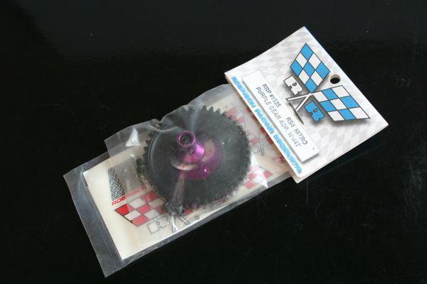Robinson Racing Purple Alu Spur Gear Adapter + 44T Spur Gear HPI RS4 Nitro -1530