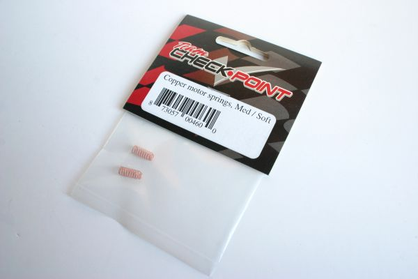 Team Checkpoint Copper Motor Springs (Med/Soft) For Checkpoint Motor - 4600