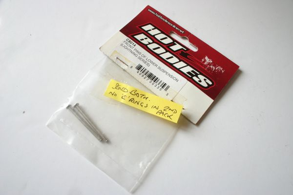 Hot Bodies Lightning Front Lower Suspension Pins - HBC8014 (Incomplete)