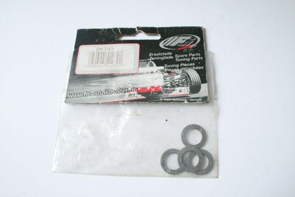 FG Modelsport 10x16x1mm Shims (Incomplete Pack, 4pcs) 06745
