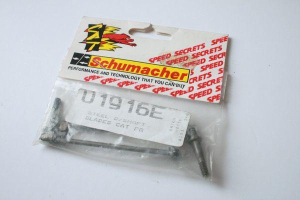 Schumacher U1916E Steel Front Driveshafts For Schumacher CAT 3000 CAT 2000 98