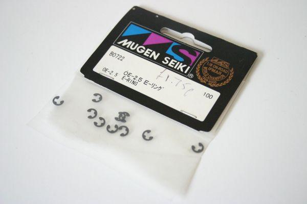 Mugen Seiki B0722 OE-2.5 E-Rings (Pk 10)