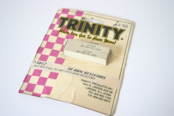 Trinity 5012 Battery Pack 30 Ohm Discharge Resistors