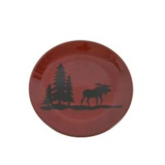 Woodland Moose Stoneware Salad Plate