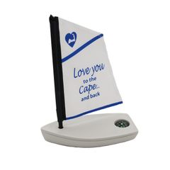 Love You To The Cape & Back Sailboat with Compass