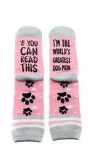 Pink Dog Crew Socks