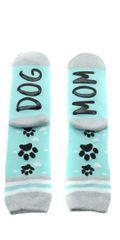 Teal Dog Crew Socks