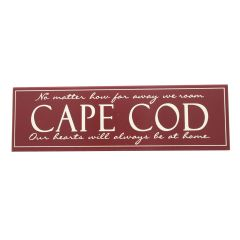 Cape Cod Sign Burgundy