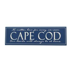 Cape Cod Sign Blue
