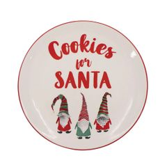 Gnome Cookies for Santa Plate