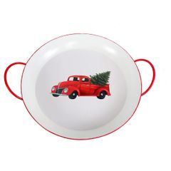 Red Truck Round Tray