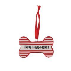 Happy Howlidays Christmas Tree Ornament
