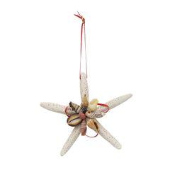 Starfish and Shell Christmas Ornament