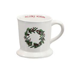 Traditional Christmas Wreath Mug