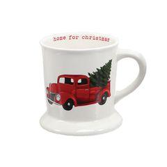 Traditional Red Truck Christmas Mug