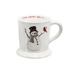 Traditional Snowman and Cardinal Mug