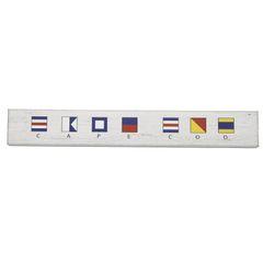 Cape Cod Nautical Flag Wall Sign