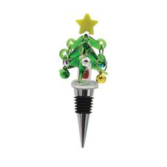 Christmas Tree with Ornaments Bottle Stopper