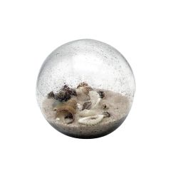 Beach Orb With Sand & Shells SM