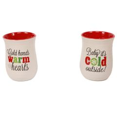 Holiday Sayings Cozy Mug - Set of 2