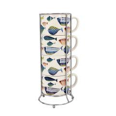Fish Tales Stacking Mug Set