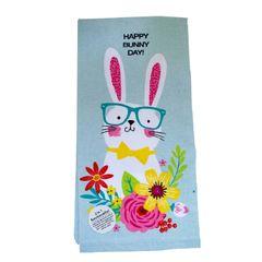 Easter Happy Bunny Day Tea Towel