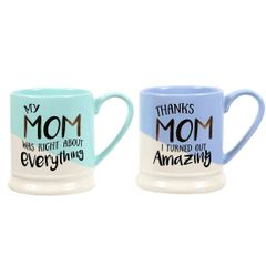 Mom Sayings Footed Mug
