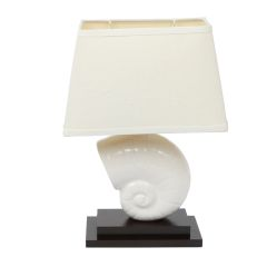 Ceramic Nautilus Shell Lamp