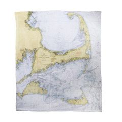 Vintage Cape Cod Map Blanket