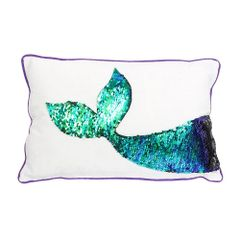 Sequin Mermaid Tail Pillow
