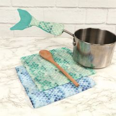 Mermaid Tail Dishtowel, Spoon, and Handle Cover