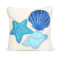 Embroidered Shell Pillow