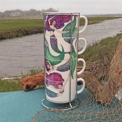Mermaid Stacking Mug Set