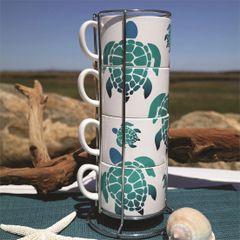 Sea Turtle Stacking Mug Set