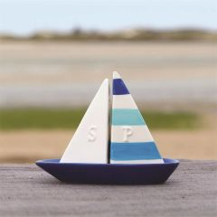 Salt and Pepper Shakers with Boat Base