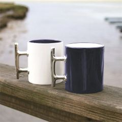 Plated Cleat Handle Mug - Set of 2