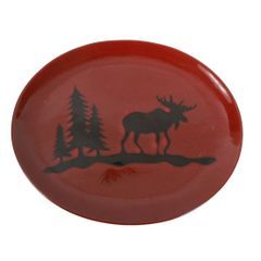 Woodland Moose Stoneware Platter
