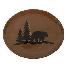Woodland Bear Stoneware Platter
