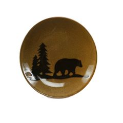 Woodland Bear Stoneware Dinner Plate