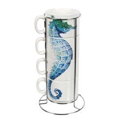 Seahorse Stacking Mug Set