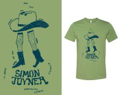 Joyner, Simon: Cowboy Legs (Ian O'Neil Drawing) Tour T-Shirt