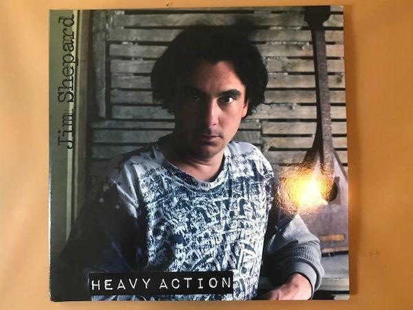 """Shepard, Jim: Heavy Action 2xLP + Bonus 12"""" EP & Booklet, Postcard"""