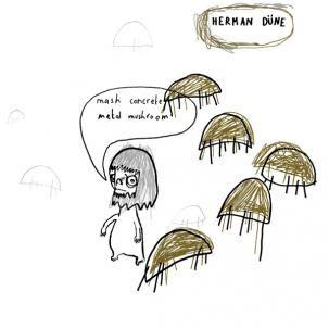 Herman Dune - Mash Concrete Metal Mushroom