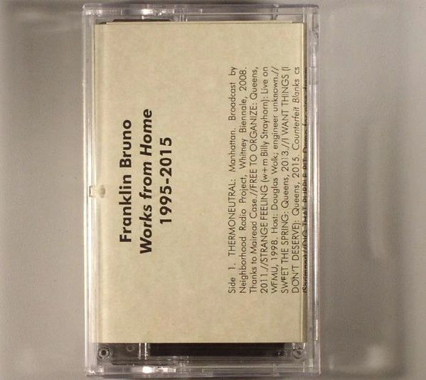 Franklin Bruno - Works From Home Cassette