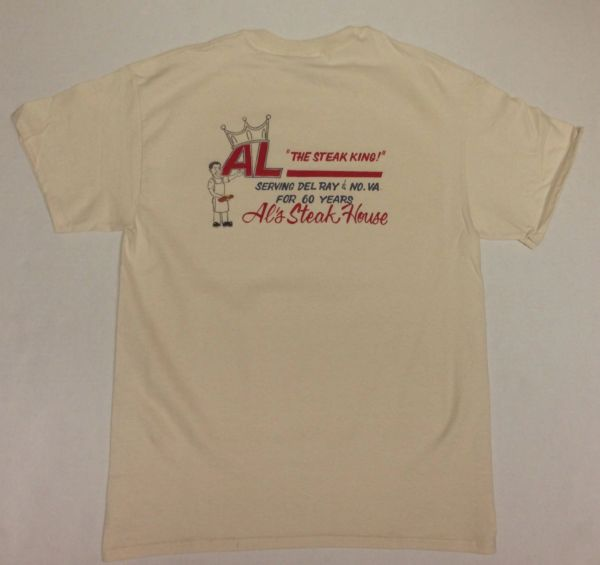 Al's Steakhouse - Steak King by Donnie Strother T-shirt - click for shirt colors
